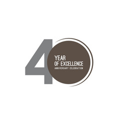 40 year excellence anniversary celebration vector