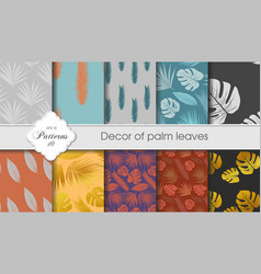 A set of tropical backgrounds vector