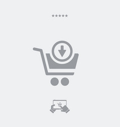 add product to cart vector image