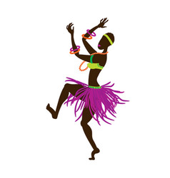 African girl in a bright national ethnic costume vector