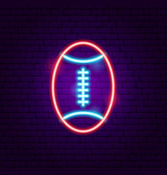 american football neon sign vector image