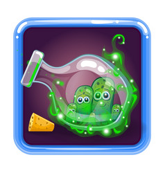 application icon with monsters in bottle vector image