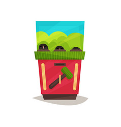 arcade game machine with hammer vector image
