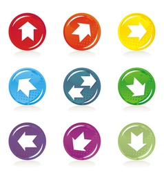 Arrow icons vector image vector image