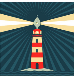 Art inspiration fountain pen like lighthouse vector
