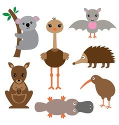 Australian animals set vector image