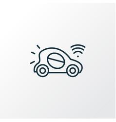 autonomous car icon line symbol premium quality vector image