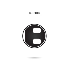 B-letter abstract logo vector
