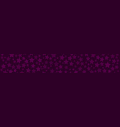banner of stars vector image
