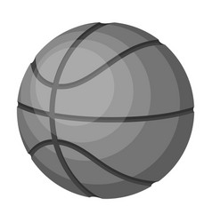 basketballbasketball single icon in monochrome vector image