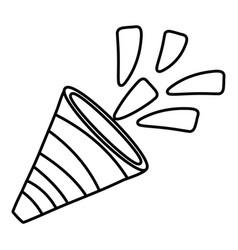 birthday party element cartoon vector image