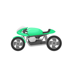 bright green motorcycle modern sport bike two vector image