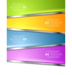 Bright infographics background with metal stripes vector