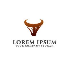 bull logo luxury logo design concept template vector image