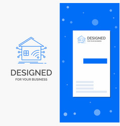 Business logo for automation home house smart vector
