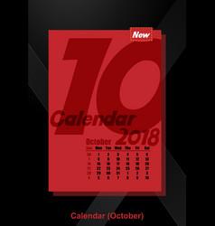 calendar ui october image vector image