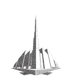 City block perspective stipple vector
