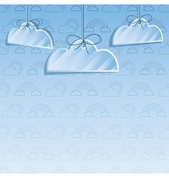 Cloud decoration vector