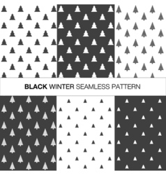 Collection of seamless pattern with trees vector image