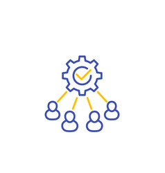 Cooperation and teamwork icon line vector