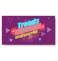 creative abstract memphis banner or poster vector image