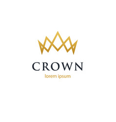 crown geometric logo vector image