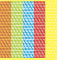 Cubic colorful patterns vector