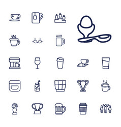 Cup icons vector