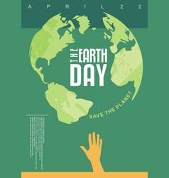 Earth day poster design vector