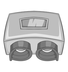 Eye checking machine icon gray monochrome style vector image