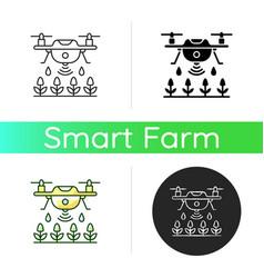 Farming drones icon vector