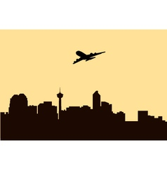 Fly Over Morning City vector