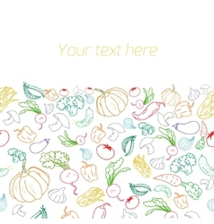 Fresh vegetables with placeholder for text vector