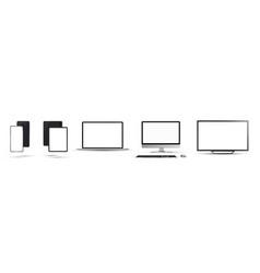 Gadgets mockups set vector