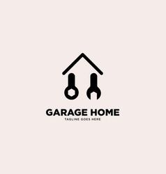 Garage home logo template vector