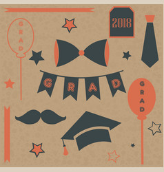 Graduation package two thousand eighteen paper vector