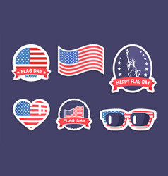 Happy flag day collection vector