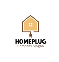 Home Plug Design vector