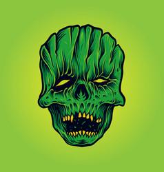 horror skull face mask mascot vector image