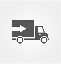 icon van with arrow and flat design vector image