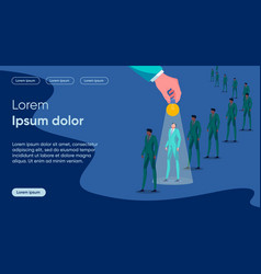 Idea sharing flat landing page template vector