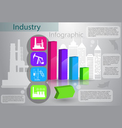 Industry infographics production process vector