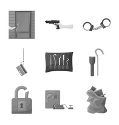Isolated object pickpocket and fraud symbol vector