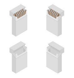 Isometric cigarette pack smokers vector