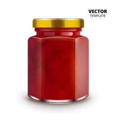 Jam jar glass mockup isolated vector