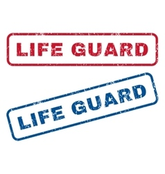 Life Guard Rubber Stamps vector