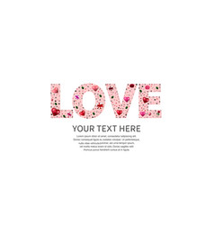Love text pink color on white background vector