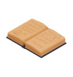 Magic book icon vector