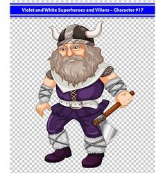 Male viking vector image