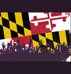 Maryland state flag with audience vector